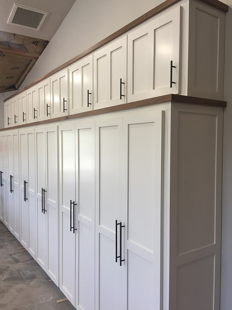custom white pantry cabinets