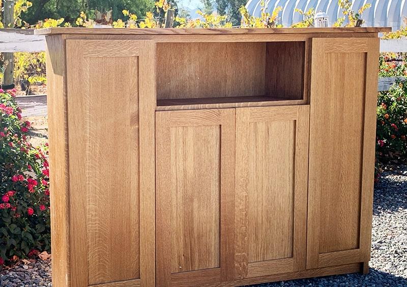 Custom White Oak TV Cabinet for Ramona Customer