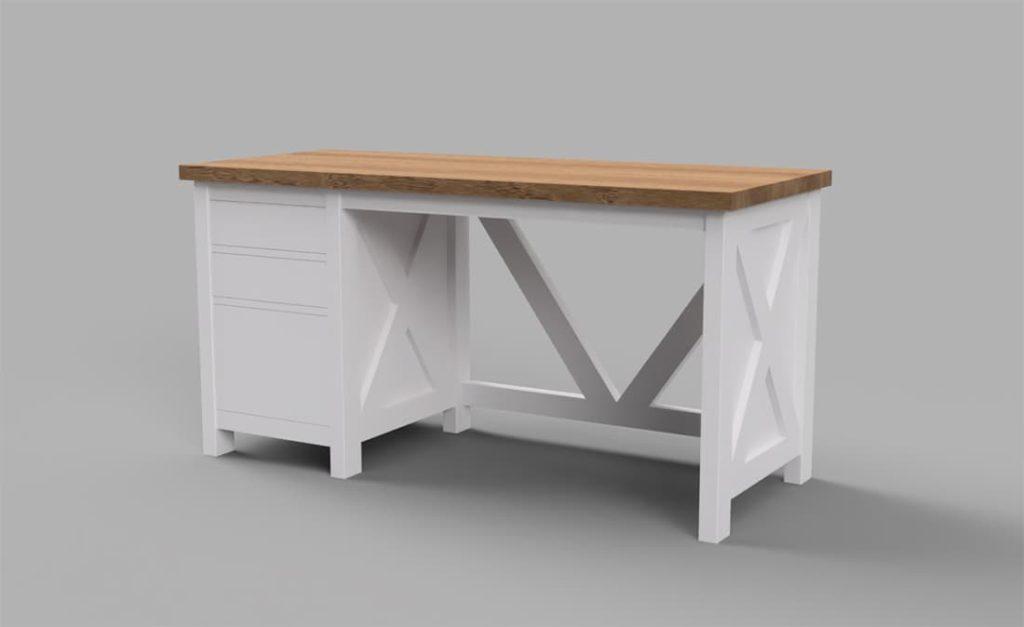custom farmhouse desk in ramona, poway