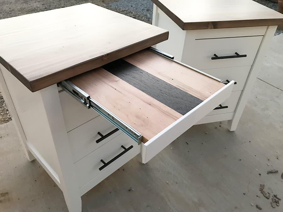 Farmhouse Bedside Tables with a Custom Addition