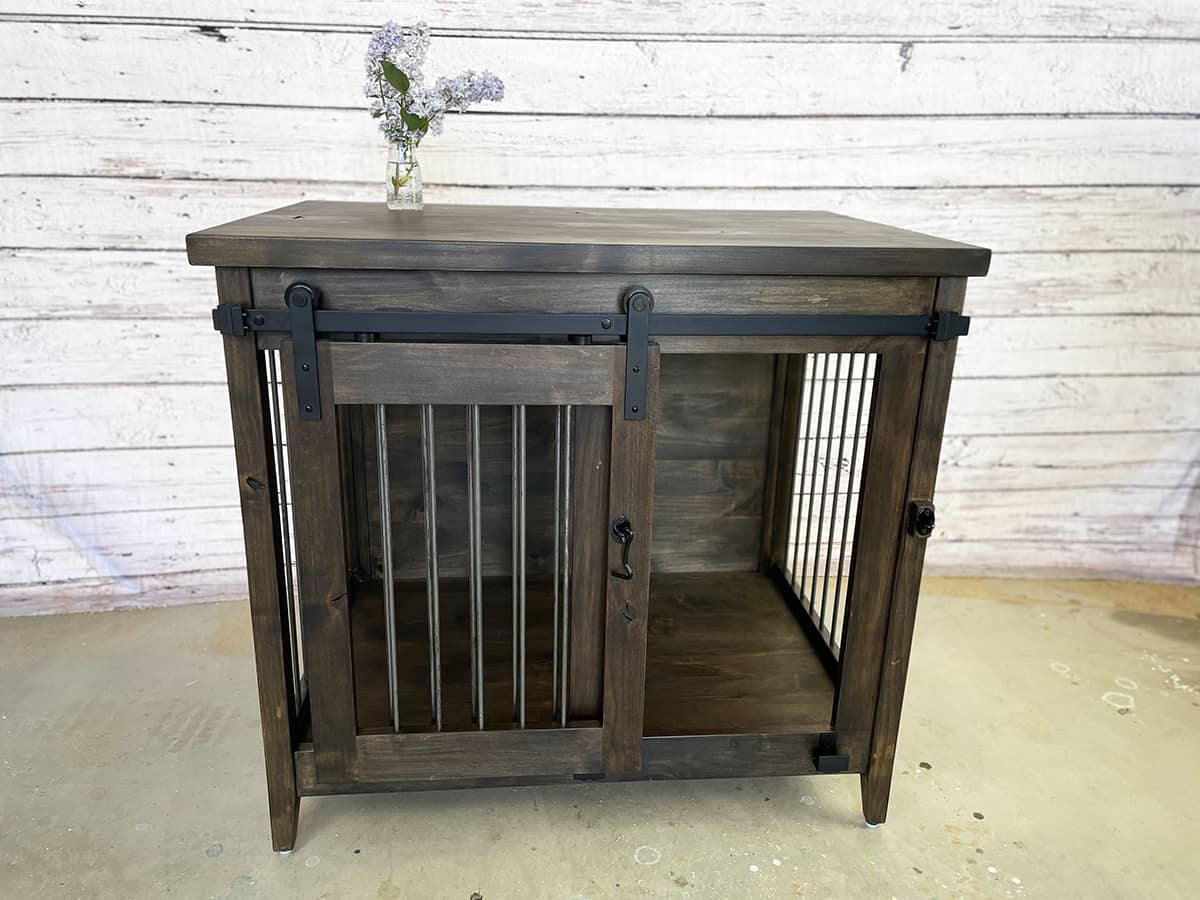 Custom Dog Kennel for Escondido Home That Doubles as a Table
