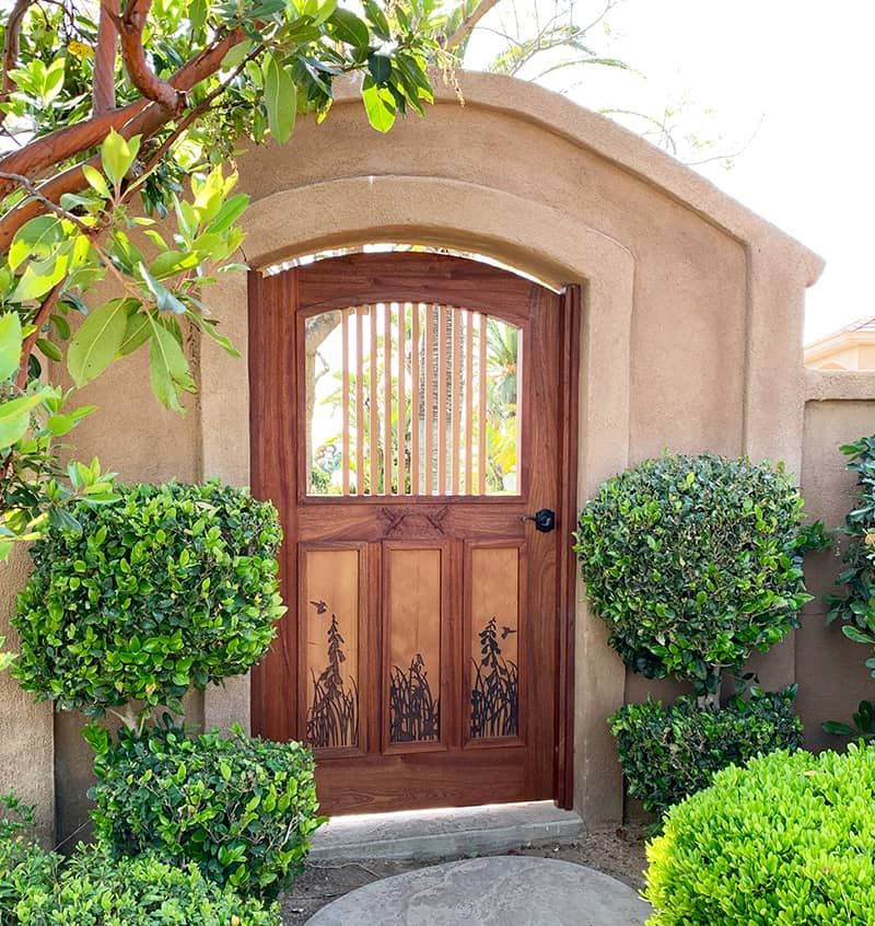 Custom Gate for Ramona Home in the Arts and Crafts Style